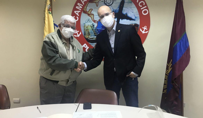 Cámara de Comercio de Puerto Cabello firma convenio institucional con el CUAM como parte de los beneficios para sus afiliados