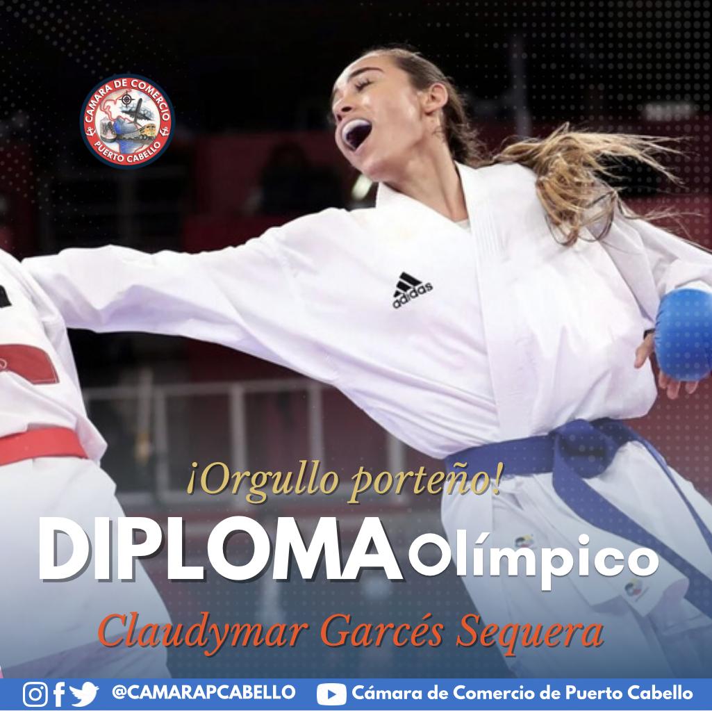 La porteña Claudymar Garcés logra diploma olímpico en kumite